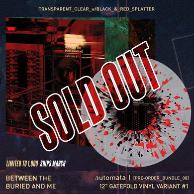 Between The Buried And Me - 'Automata I' Trans Clear w/ Black & Red Splatter Pre-Order Vinyl