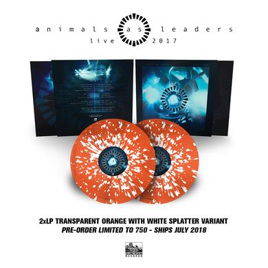 Animals As Leaders - 'Live 2017' Trans Orange w/ White Splatter