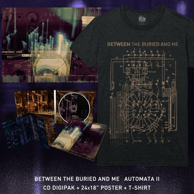 Between The Buried And Me - 'Automata II' Blueprint Tee Pre-Order Bundle