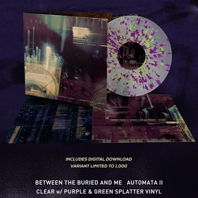 Between The Buried And Me - 'Automata II' Clear w/Magenta & Green Splatter Pre-Order Vinyl