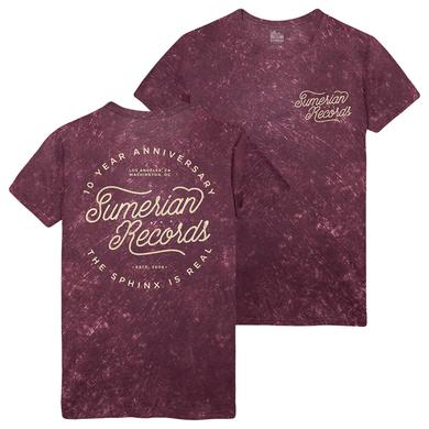 Sumerian Merch Sumerian Records 10 Year - Sphinx Is Real Tee
