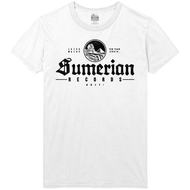 Sumerian Merch Sumerian Records 10 Year - Old School Sumerian Tee
