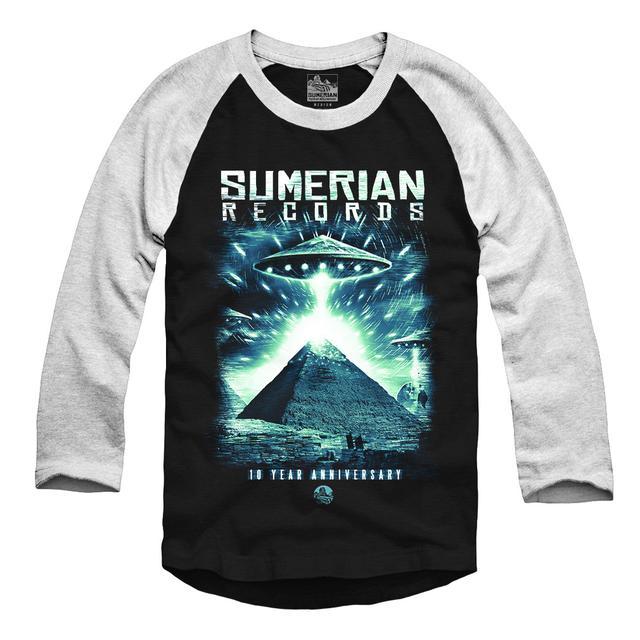 Sumerian Merch Sumerian Records 10 Year - UFO Raglan