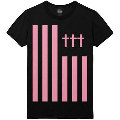 Crosses ††† - Flag Tee Pink