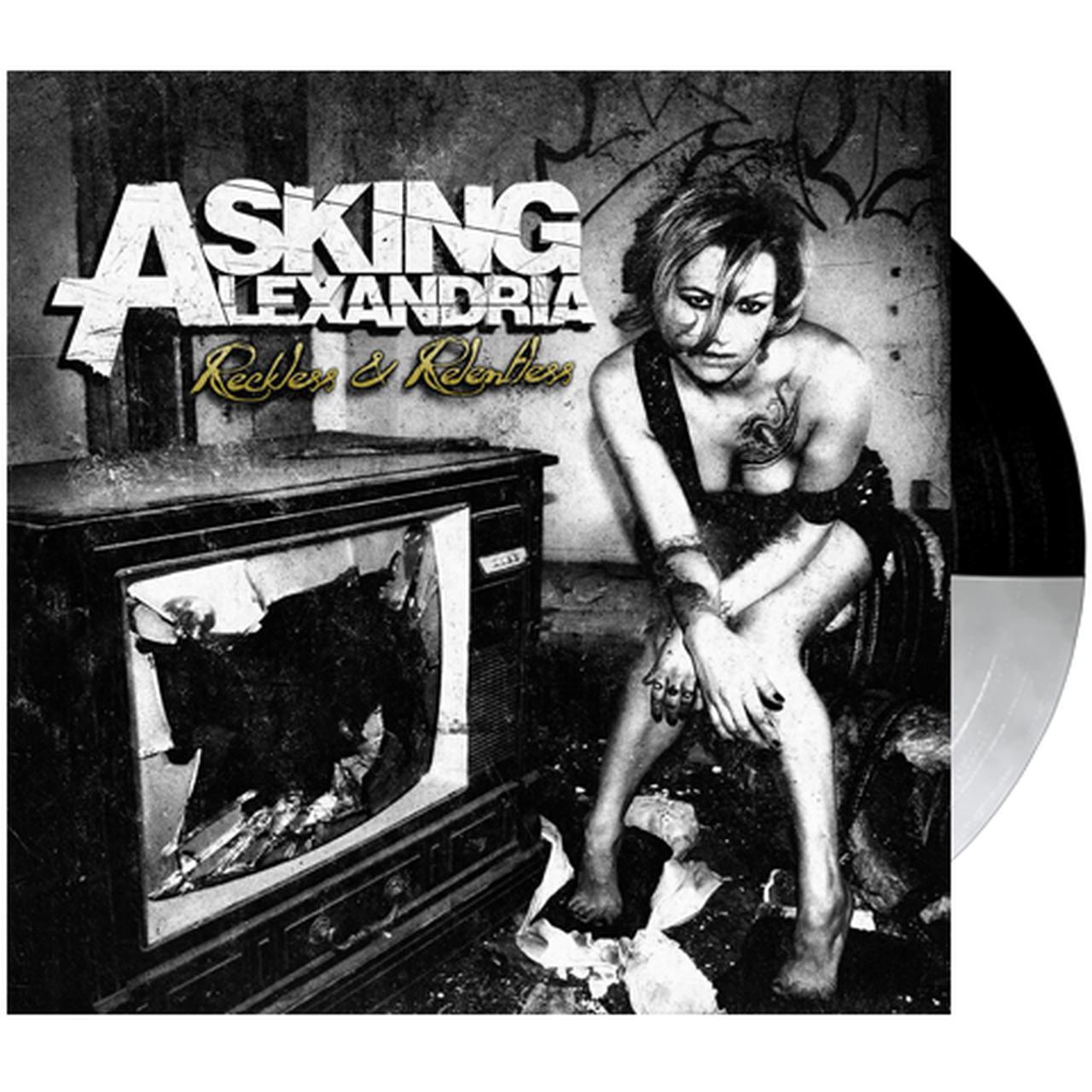 520f2271ebe Asking Alexandria -  Reckless   Relentless  Smoke Black Half Half Vinyl