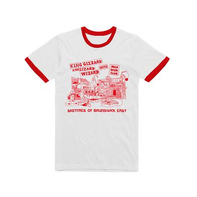 King Gizzard & The Lizard Wizard Sketches Of Brunswick / Ring T-shirt