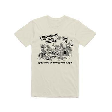 King Gizzard & The Lizard Wizard Sketches Of Brunswick / Sand T-shirt