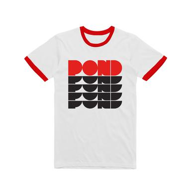 Pond Repeat Logo / Red Ringer T-shirt