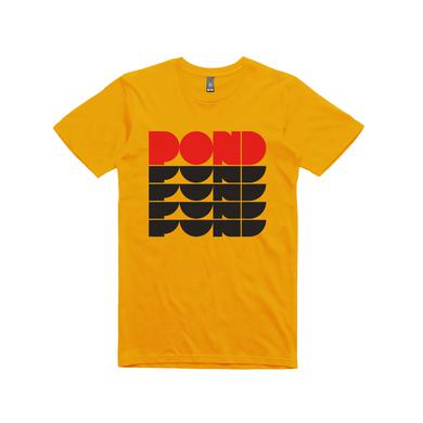 Pond Repeat Logo / Gold T-shirt