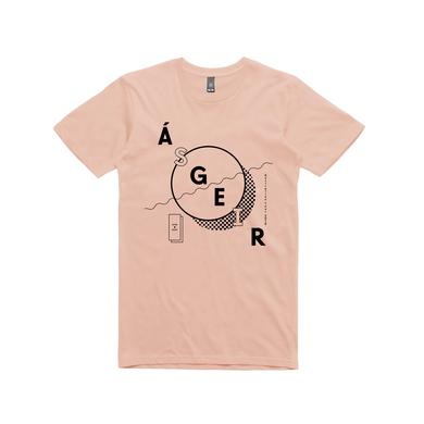Asgeir Circle / Pale Pink T-shirt