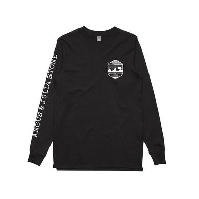Angus & Julia Stone Black Mountain / Black Longsleeve T-shirt