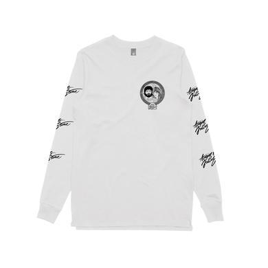 Angus & Julia Stone Australian 2018 Tour / Cartoon White Longsleeve T-shirt