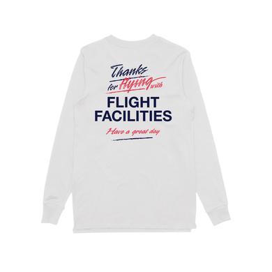 Flight Facilities Thank You / Longsleeve T-shirt White