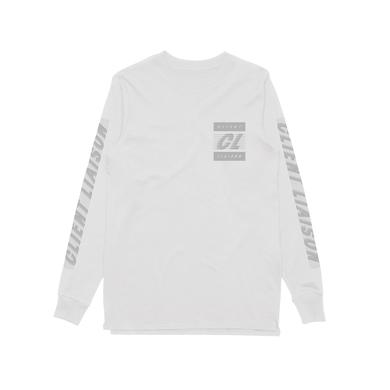 Client Liaison Speed 1.0 Silver / White Longsleeve T-shirt / LIMITED EDITION