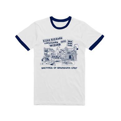 King Gizzard & The Lizard Wizard Sketches of Brunswick / Navy Ringer T-shirt
