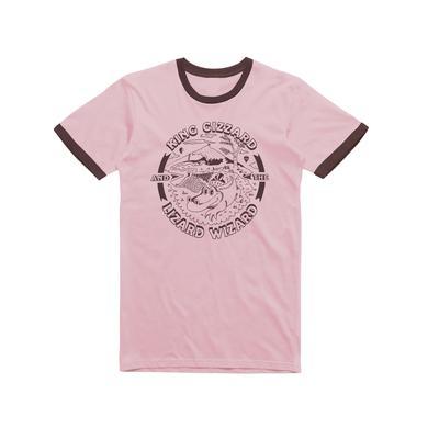 King Gizzard & The Lizard Wizard Gator  / Pink Ringer T-shirt