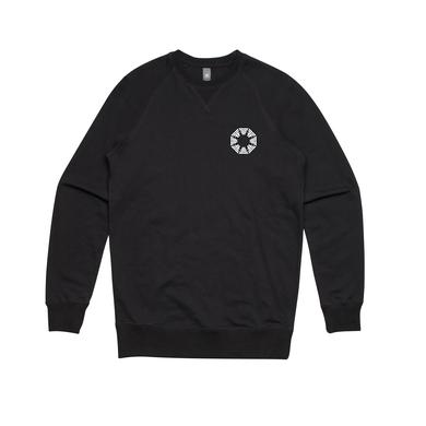 Flight Facilities Octagon / Black Crew Sweater