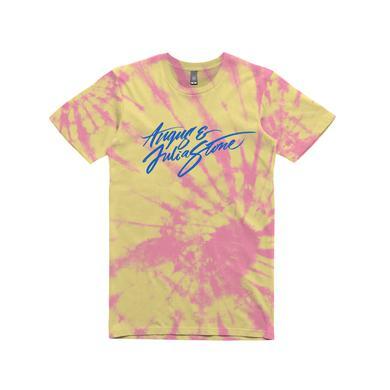 Angus & Julia Stone Logo  / Tie Dye T-shirt