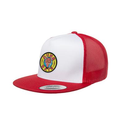 Dune Rats Death Rat / White Red Trucker Snapback Cap