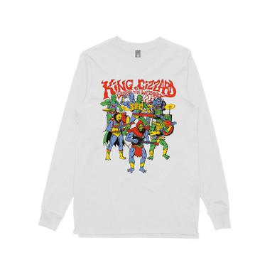King Gizzard & The Lizard Wizard Masters / White Longsleeve T-shirt