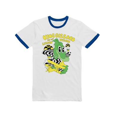 King Gizzard & The Lizard Wizard Balloon Dragons / Blue Ringer White T-shirt