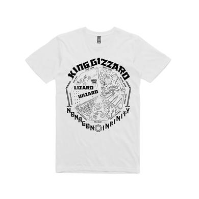 King Gizzard & The Lizard Wizard Nonagon Mono / White T-shirt