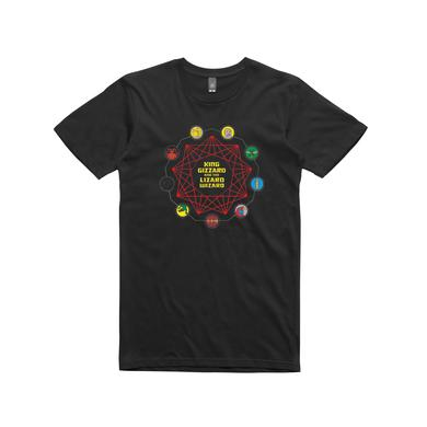 King Gizzard & The Lizard Wizard Nonagon Characters / Black T-shirt