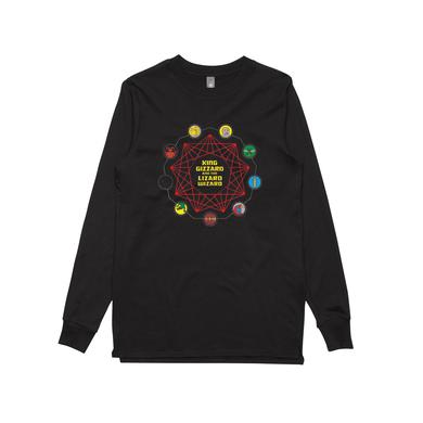 King Gizzard & The Lizard Wizard Nonagon Characters / Longsleeve Black T-shirt