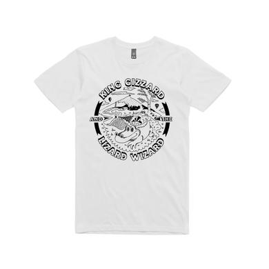 King Gizzard & The Lizard Wizard Gator / White T-shirt