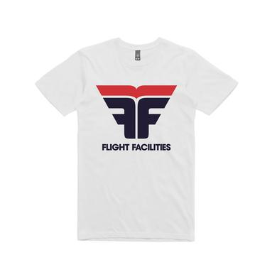 Flight Facilities Logo / White T-shirt