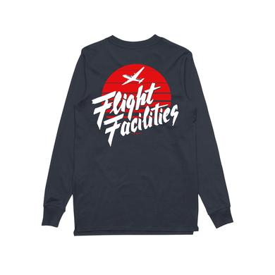 Flight Facilities Sunrise Bomber / Navy Longsleeve T-shirt