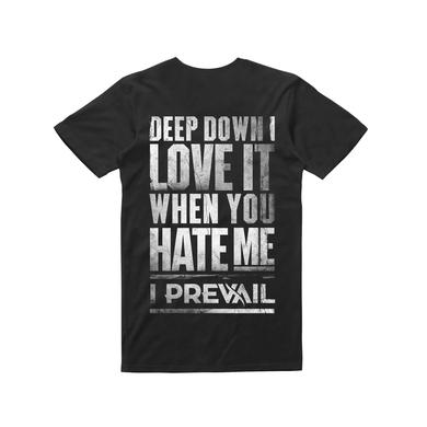 I Prevail Love Hate / Black T-shirt