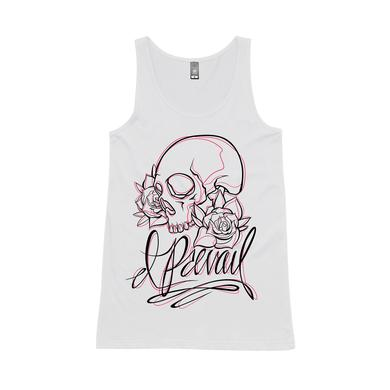 I Prevail Skull / White Women's Singlet