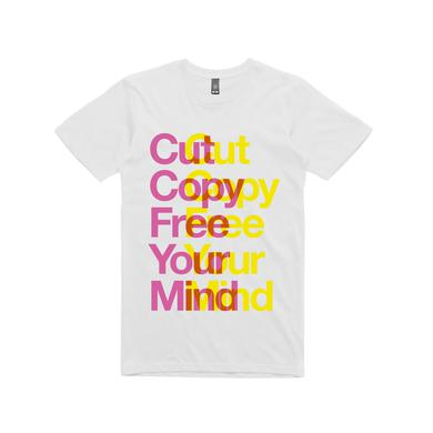 Cut Copy Free Your Mind / white t-shirt