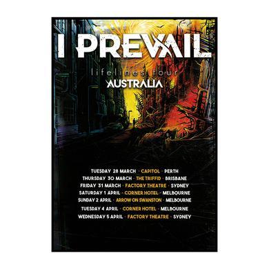 I Prevail Australian Tour / Poster