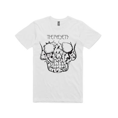 The Presets Garden Skull Charcoal T Shirt
