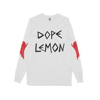 DOPE LEMON Red Ghost / White Longsleeve T-shirt