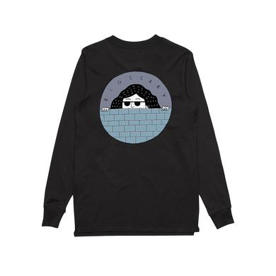 Big Scary Peeping Tom/ Black Longsleeve T-shirt.