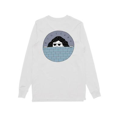 Big Scary Peeping Tom / White Longsleeve T-shirt