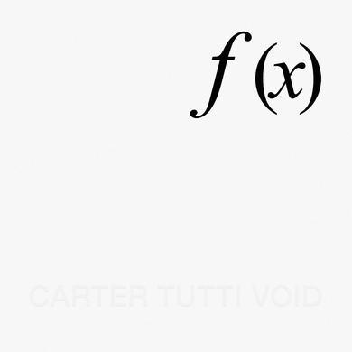 Carter Tutti Void 'f (x)' Vinyl Record
