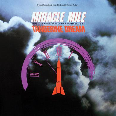 Tangerine Dream 'Miracle Mile' Vinyl LP - Orange/Black Marbled Vinyl Record