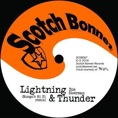 """Bim Sherman 'Lightning & thunder (Mungo's Hi Fi remix)' Vinyl 10"""" Vinyl Record"""