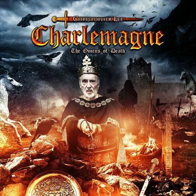 Christopher Lee 'Charlemagne The Omens of Death' Vinyl LP - Orange Vinyl Record