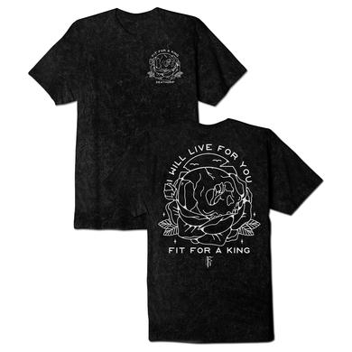 FIT FOR A KING FFAK - I Will Live Acid Wash Tee