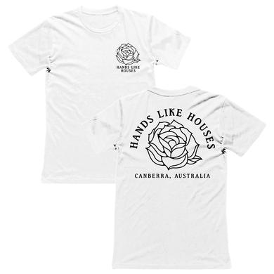 Hands Like Houses HLH - White Canberra Rose Tee