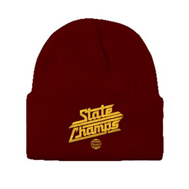 State Champs SC - Around The World Logo Beanie (Mrn/Gld)