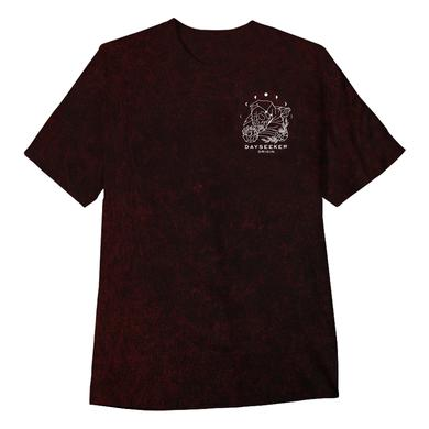 Dayseeker - Origin Maroon Acid Wash Tee