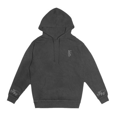 FIT FOR A KING FFAK - Deathgrip Embroidered Pigment Wash hoodie (Blk)