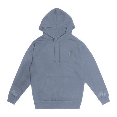 FIT FOR A KING FFAK - Deathgrip Embroidered Pigment Wash hoodie (Blu)