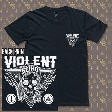 Violent Soho Blazin Skull Black Tee